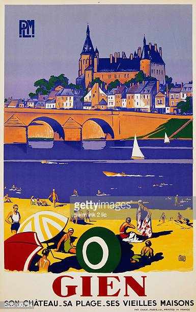 Gien Travel Poster by Alo