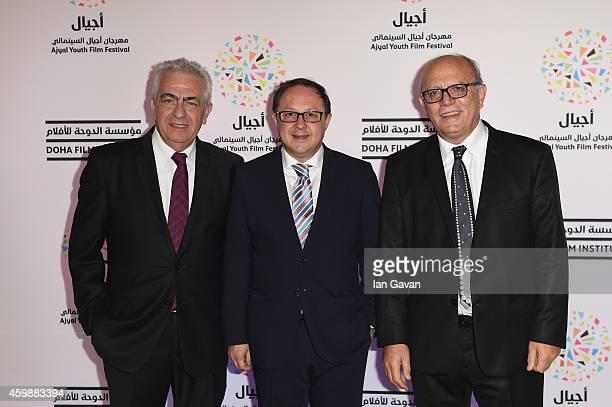 Giffoni Experience Board Member Luigi Notarfrancesco Giffoni Experience CEO Pietro Rinaldi and Giffoni Experience Director Claudio Gubitosi attend...