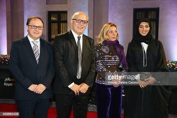 Giffoni Experience Director Claudio Gubitosi Giffoni Experience CEO Pietro Rinaldi Councillor of Campania Region Caterina Miraglia and Doha Film...