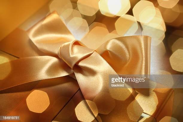 Geschenk und Glitzer