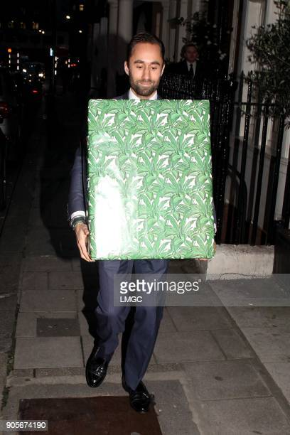 A gift arrives at Kate Moss's 44th birthday at Mark's Club in Mayfair on January 16 2018 in London England