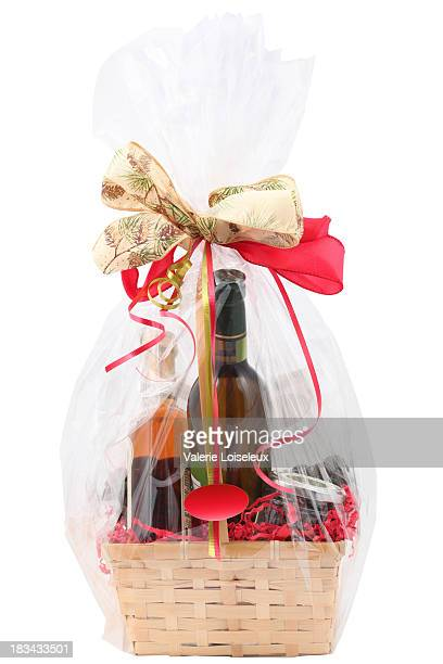gift basket - basket stock photos and pictures