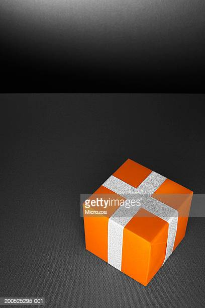 gift box, close-up, elevated view - microzoa stock pictures, royalty-free photos & images