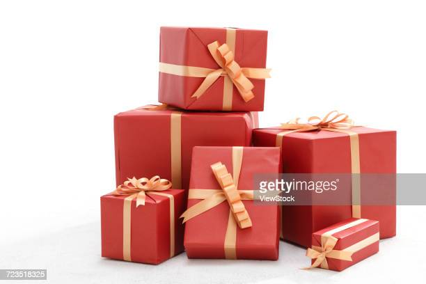 gift box - medium group of objects stock pictures, royalty-free photos & images