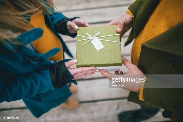 gift box - exchanging stock pictures, royalty-free photos & images