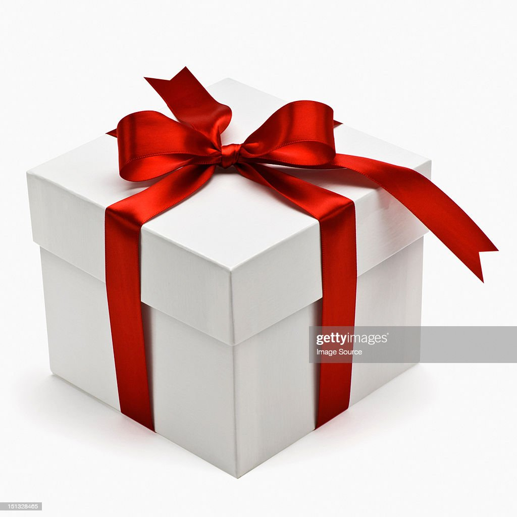 Gift box with red ribbon getty images gift box with red ribbon negle Choice Image