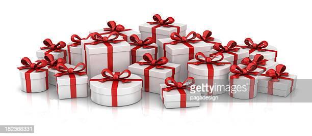 gift boxes heap