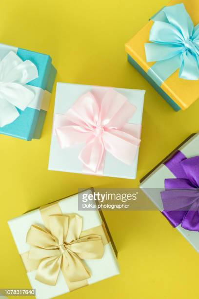 gift boxes - birthday present stock pictures, royalty-free photos & images