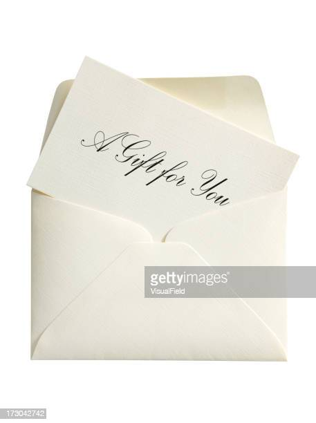 Gift Card & Envelope, with Clipping Path