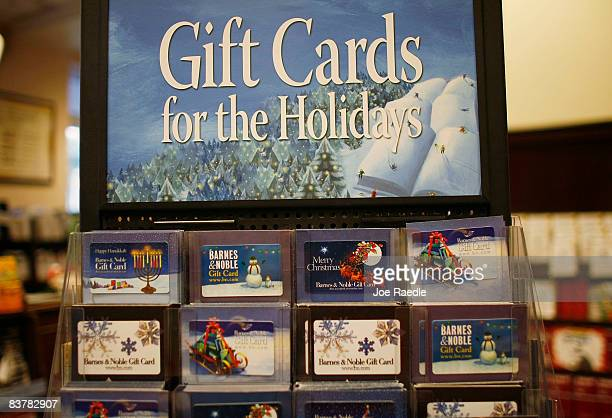 A gift card rack is seen at the Barnes Noble store November 21 2008 in Miami Florida Analysts expect gift cards to be a big seller this holiday season