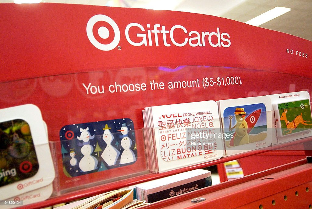 Gift Cards are seen at a Target in Plymouth Meeting, Pennsyl : News Photo