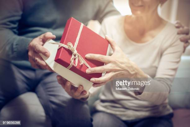 gift for woman. - anniversary stock pictures, royalty-free photos & images