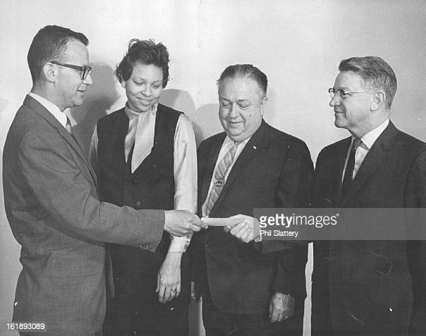 JUN 4 1965 JUN 7 1965 Gift Helps Business Education Workshop Chuck Henning executive vice president of the Savings and Loan League of Colorado...