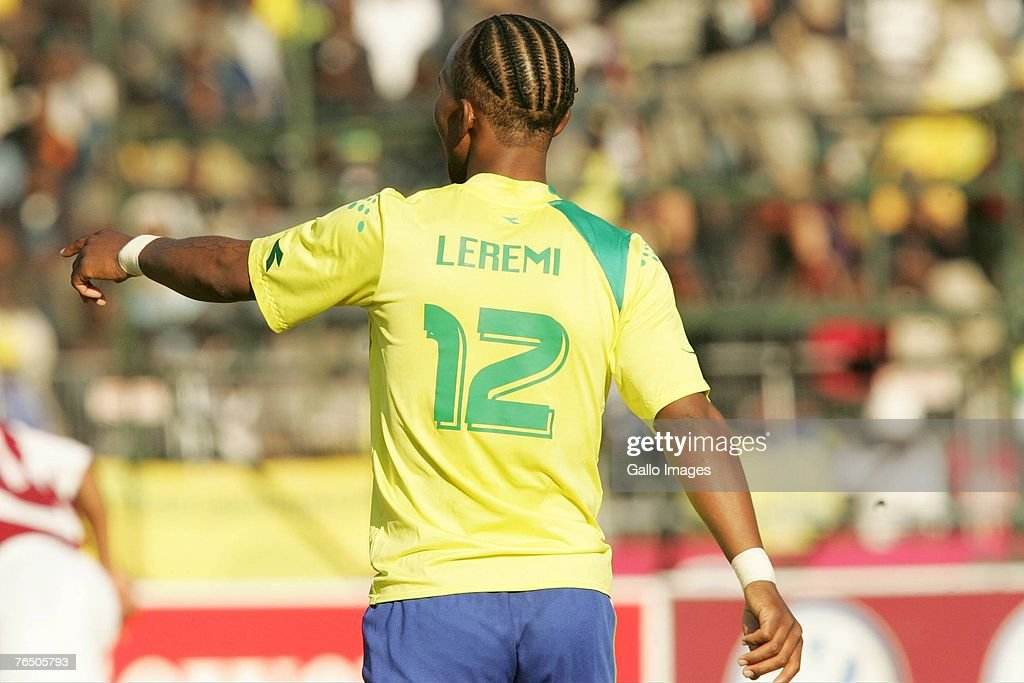 Gift leremi pictures and photos getty images gift leremi gestures during the psl match between moroka swallows and mamelodi sundowns held at germiston negle Images