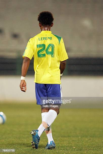 Gift leremi stock photos and pictures getty images gift leremi walks on the pitch during the confederation cup match between mamelodi sundowns and astres negle Image collections