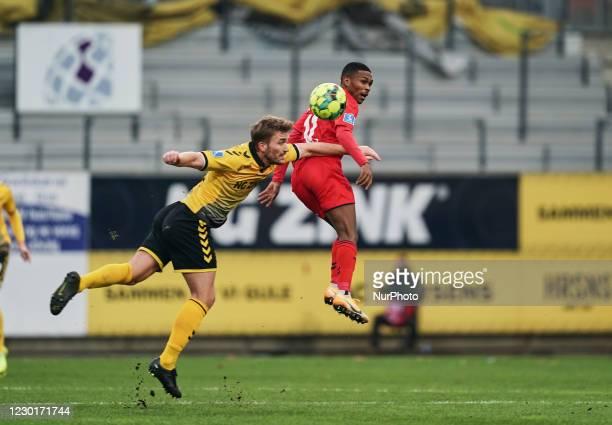 Gift Links of Aarhus GF during the Superliga match between AC Horsens versus Aarhus GF at Casa Arena Horsens , Horsens, Denmark on December 13, 2020.