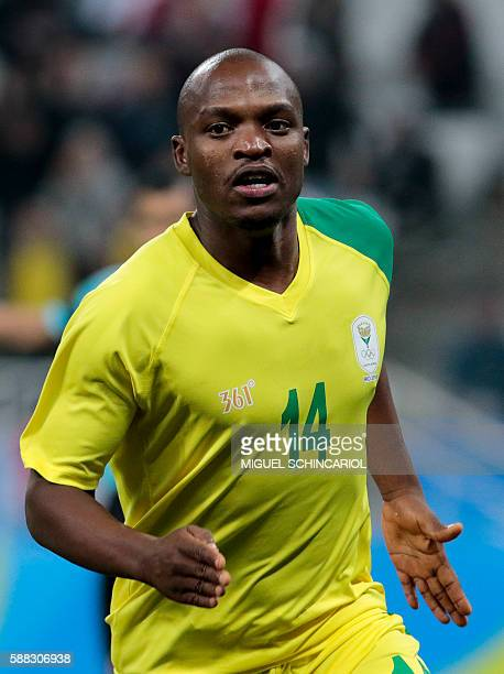 Gift motupa stock photos and pictures getty images gift motupa of south africa celebrates after scoring against iraq during their rio 2016 olympic games negle Images