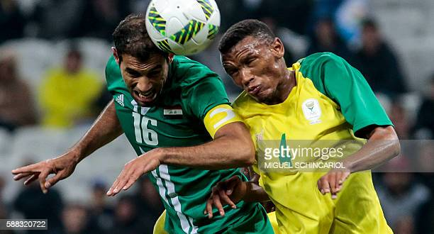 Gift motupa stock photos and pictures getty images topshot gift motupa of south africa celebrates after scoring against iraq during their rio 2016 olympic negle Images