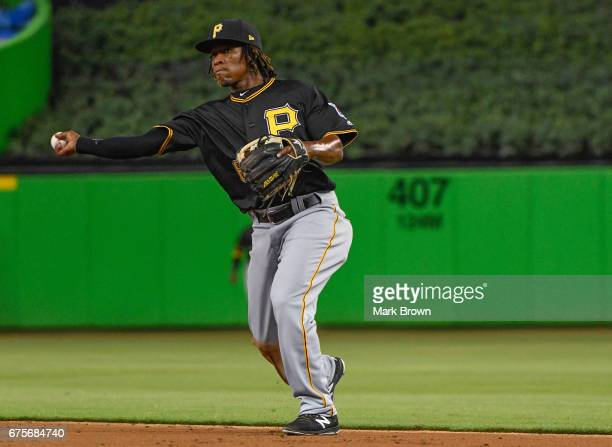 Gift ngoepe getty images gift ngoepe of the pittsburgh pirates in action during the game between the miami marlins and negle Images