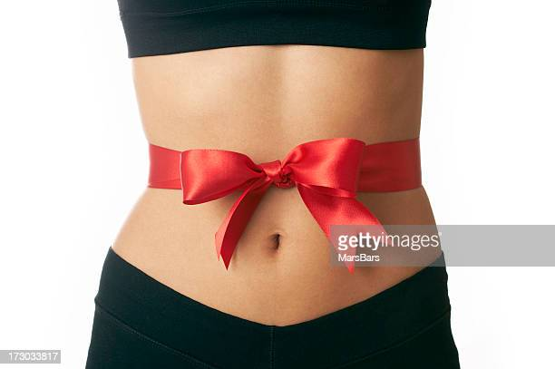 gift of slimming - waist stock pictures, royalty-free photos & images