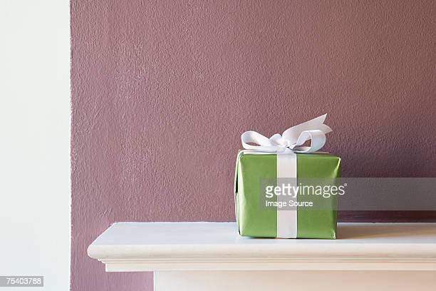 Gift on a mantlepiece