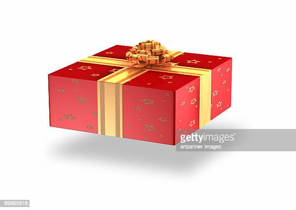 A Gift or Parcel on white background