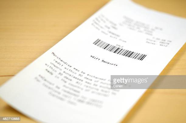 gift receipt - receipt stock pictures, royalty-free photos & images