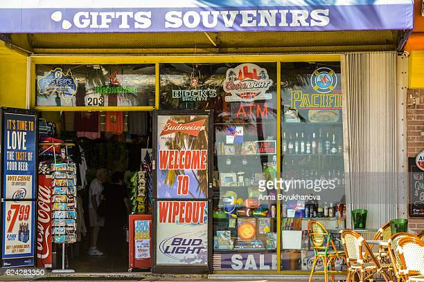 gift shop and convenience store in fort lauderdale, usa - convenience store stock photos and pictures