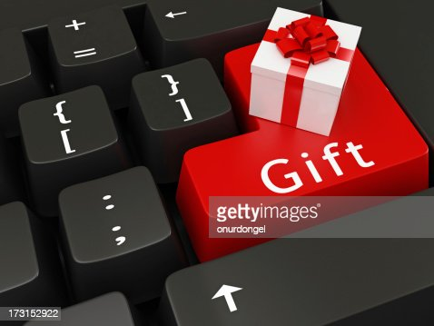 Gift Symbols On Keyboard Keys Stock Photo Getty Images
