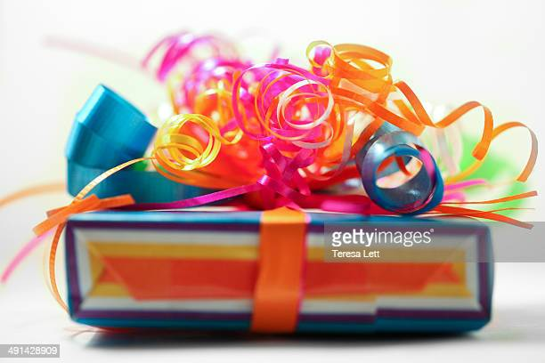 Gift with ribbons