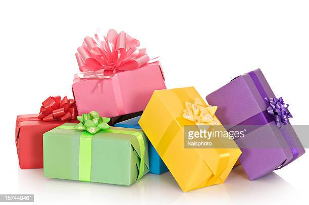 Giftboxes in a pile