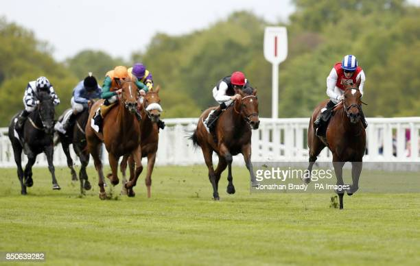 Gifted Girl ridden by Tom Queally wins the Bovis Homes Fillies' Handicap Stakes during day two of Race Rattle 'n' Roll at Ascot Racecourse Ascot
