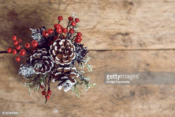 gifts and christmas decoration on table - country christmas stock pictures, royalty-free photos & images