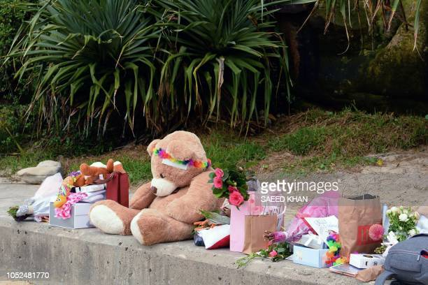 Gifts presented by wellwishers to Britain's Prince Harry and his wife Meghan Duchess of Sussex for their upcoming baby are seen at Sydney's iconic...