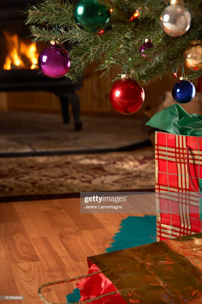 Gifts Under The Christmas Tree Stock Photo | Getty Images