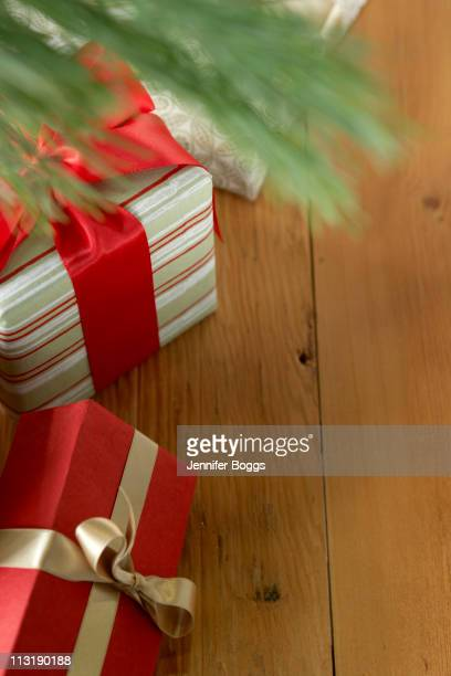 Gifts underneath Christmas tree