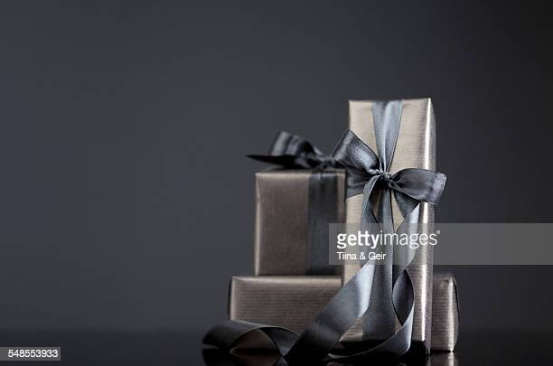Gift-wrapped boxes