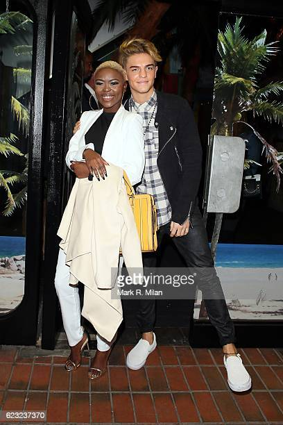 Gifty Louise and Freddie Parker attending the School of Rock the musical VIP press night on November 14, 2016 in London, England.