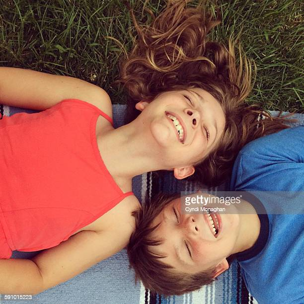 Giggling Brother and Sister
