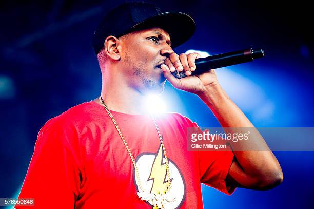 Giggs perfoms onstage for Noisy on Day 1 of Lovebox Festival at Victoria Park on July 15, 2016 in London, England.