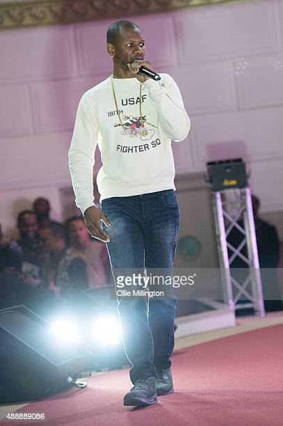 Giggs performs an unannounced set at the end of the GRM Daily Rated Awards on September 17, 2015 in London, England.