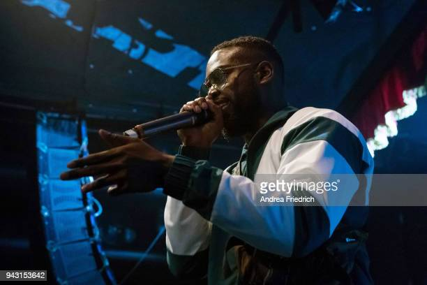 Giggs performs live on stage during a concert at Festsaal Kreuzberg on April 07, 2018 in Berlin, Germany.