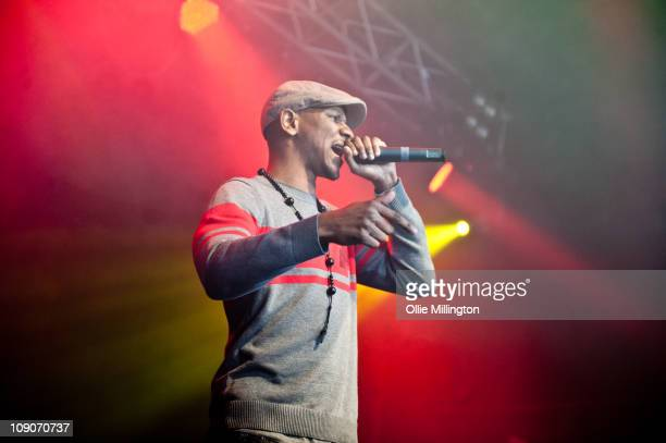 Giggs Performs on Stage at o2 Academy on February 13, 2011 in Leicester, England.