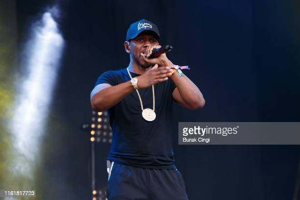 Giggs performs on stage during day 2 of Lovebox 2019 at Gunnersbury Park on July 13, 2019 in London, England.