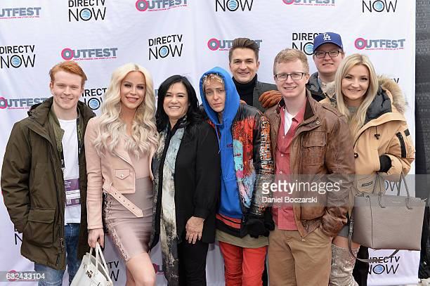 Gigi Curtis Barbara Kopple and guests attend the 21st Outfest Queer Bruch At Sundance Presented By DIRECTV NOW at Grub Steak on January 22 2017 in...