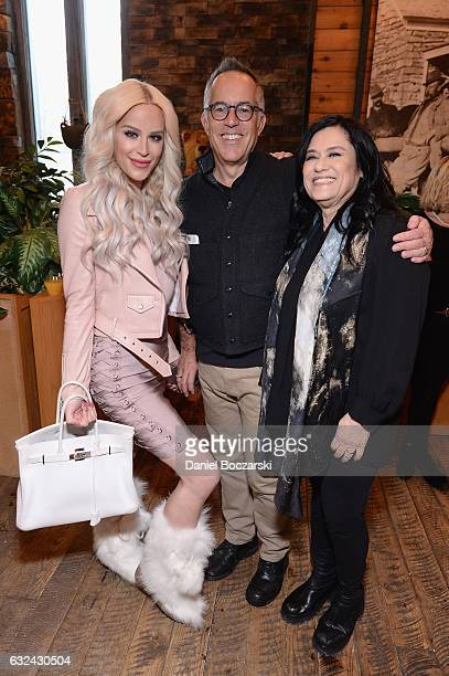 Gigi Curtis John Cooper and Barbara Kopple attend the 21st Outfest Queer Bruch At Sundance Presented By DIRECTV NOW at Grub Steak on January 22 2017...