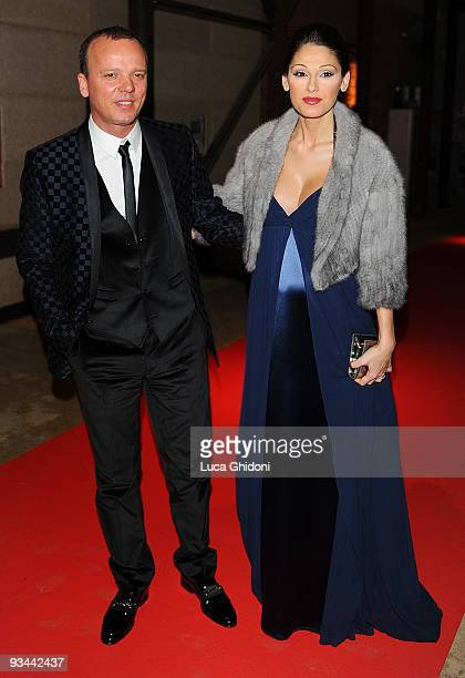 Gigi D'Alessio and Anna Tatangelo attend Doppia Difesa charity gala event on November 26 2009 in Milan Italy
