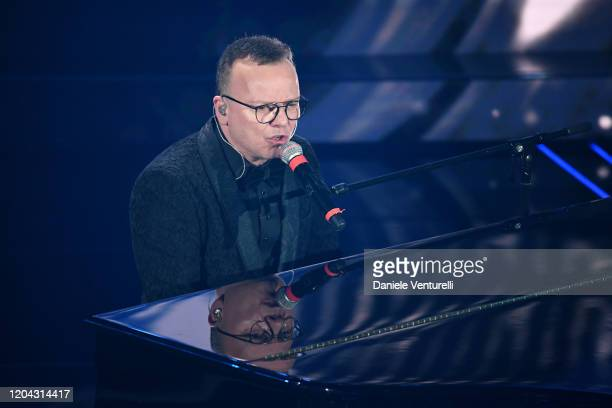 Gigi D'Alessio attends the 70° Festival di Sanremo at Teatro Ariston on February 05 2020 in Sanremo Italy