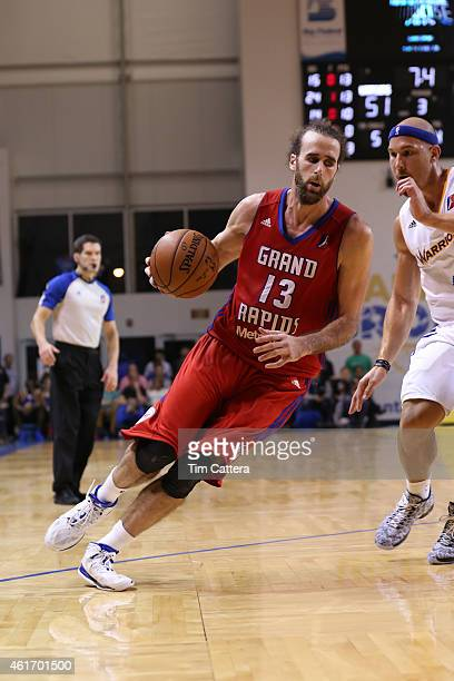 Gigi Datome of the Grand Rapids Drive dribbles the ball against the Santa Cruz Warriors during the SemiFinals game at the NBA DLeague Showcase game...