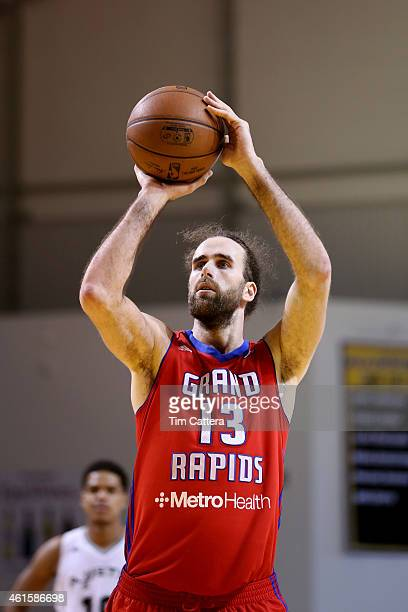 Gigi Datome of the Grand Rapids Drive shoots a free throw against the Austin Spurs during the NBA DLeague Showcase game on January 15 2015 at Kaiser...